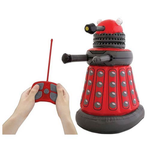 RED DALEK INFLABLE 60 CM CON CONTROL REMOTO  DOCTOR WHO