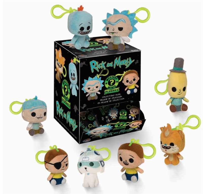 RICK AND MORTY DISPLAY 18 MYSTERY MINI LLAVEROS PELUCHE 7 CM RICK AND MORTY