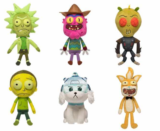 SURTIDO RICK AND MORTY DISPLAY 9 PELUCHES GALACTIC PLUSHIES RICK AND MORTY