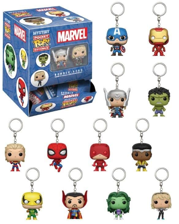 SURTIDO 24 LLAVEROS FIG 4 CM POCKET POP MYSTERY MARVEL