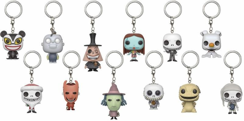 SURTIDO 24 LLAVEROS FIG 4 CM POCKET POP MYSTERY NIGHTMARE BEFORE CHRISTMAS