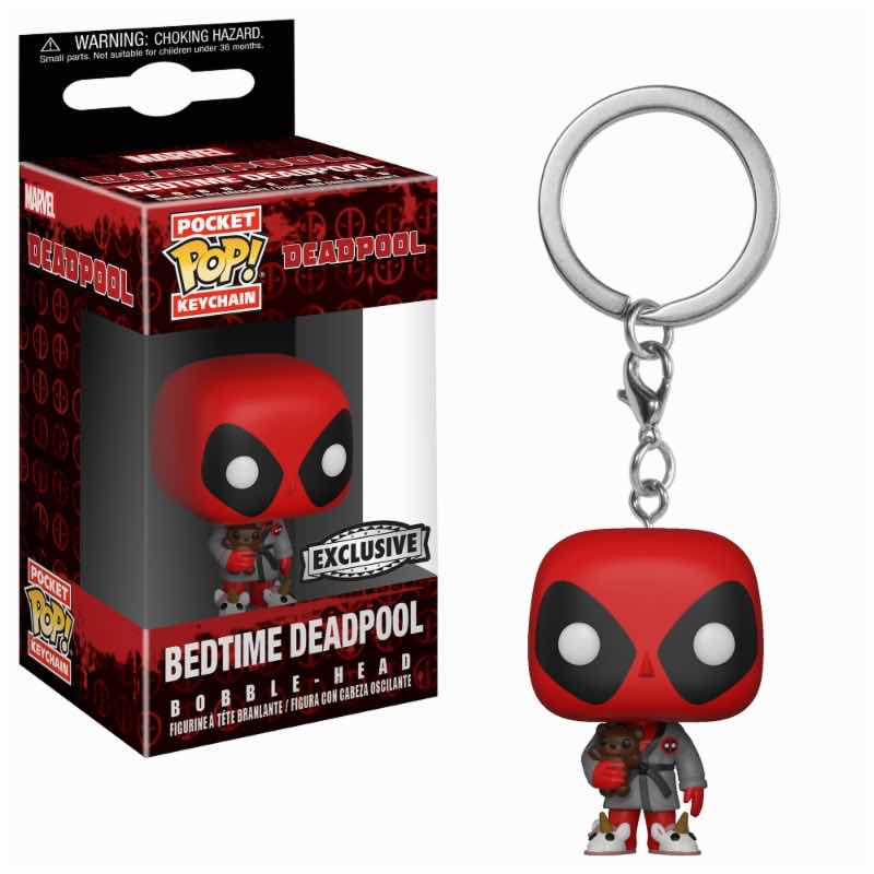 DEADPOOL ROPA DE BAÑO LLAVERO FIG 4 CM POCKET POP DEADPOOL MARVEL