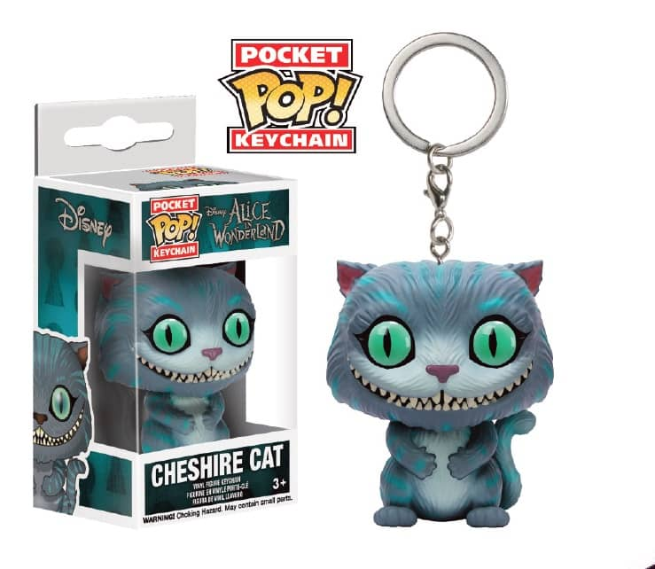 CHESHIRE GATO LLAVERO FIG. 4 CM POCKET POP DISNEY ALICE IN WONDERLAND