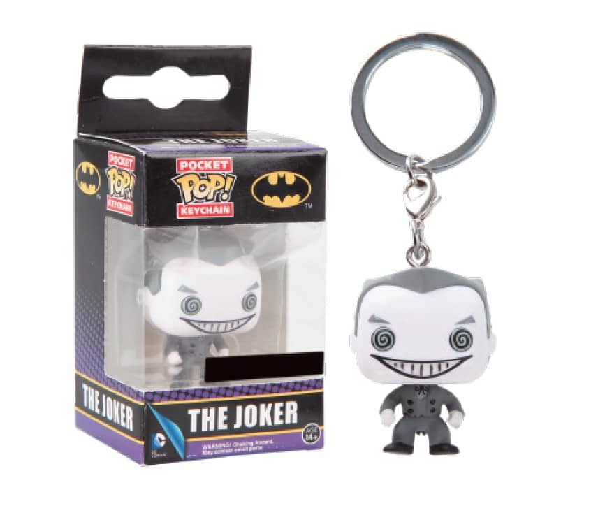 JOKER B/N LTD LLAVERO FIG 4 CM POCKET POP UNIVERSO DC