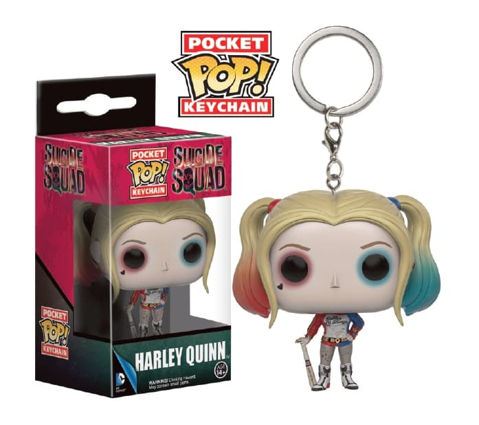 HARLEY QUINN FIG 4 CM LLAVERO POCKET POP ESCUADRON SUICIDA