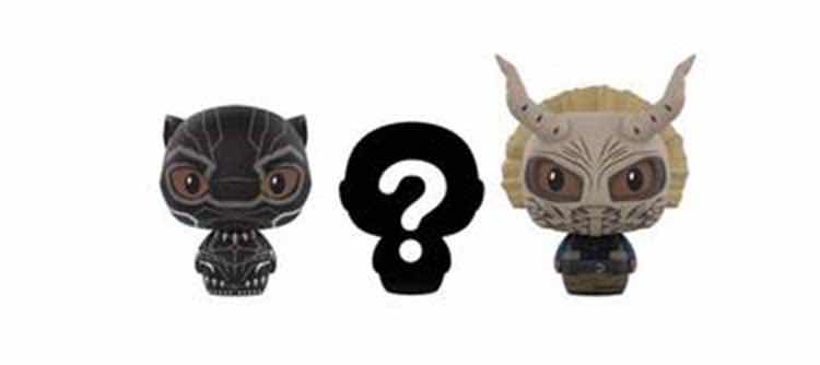 BLACK PANTHER PACK 3 FIGURAS 6.5 CM PINT SIZE HEROES