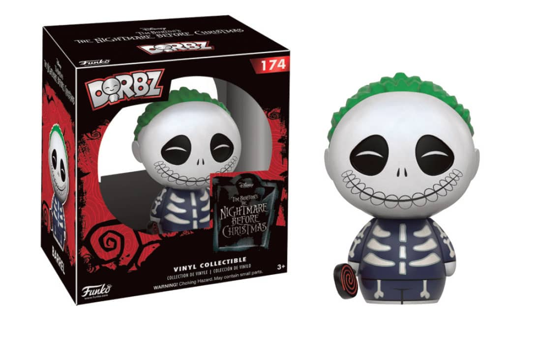 BARREL DORBZ FIG 8 CM VINYL SUGAR DORBZ NIGHTMARE BEFORE CHRISTMAS SERIES 2