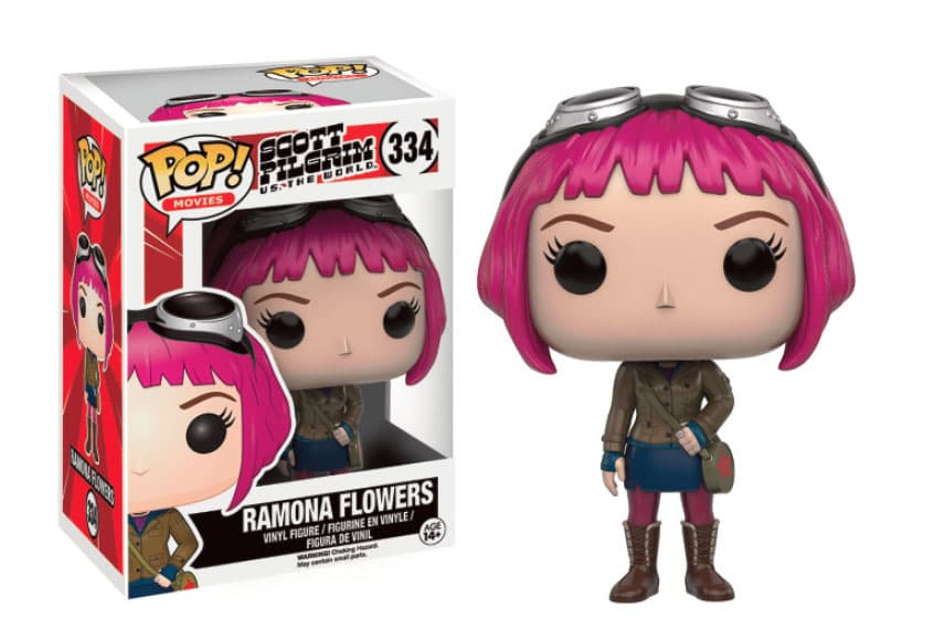 RAMONA FLOWERS FIGURA 10 CM VINYL POP MOVIES SCOTT PILGRIM