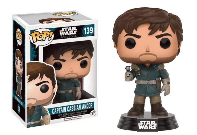CAPITAN CASSIAN ANDOR FIG.10 CM VINYL POP STAR WARS ROGUE ONE