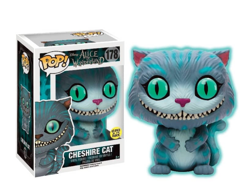 GITD GATO CHESHIRE FIG. 10 CM VINYL POP DISNEY ALICE IN WONDERLAND