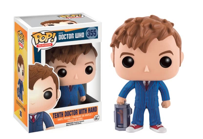 10 TH DOCTOR CON MANO FIGURA 10 CM VINYL POP TELEVISION DOCTOR WHO
