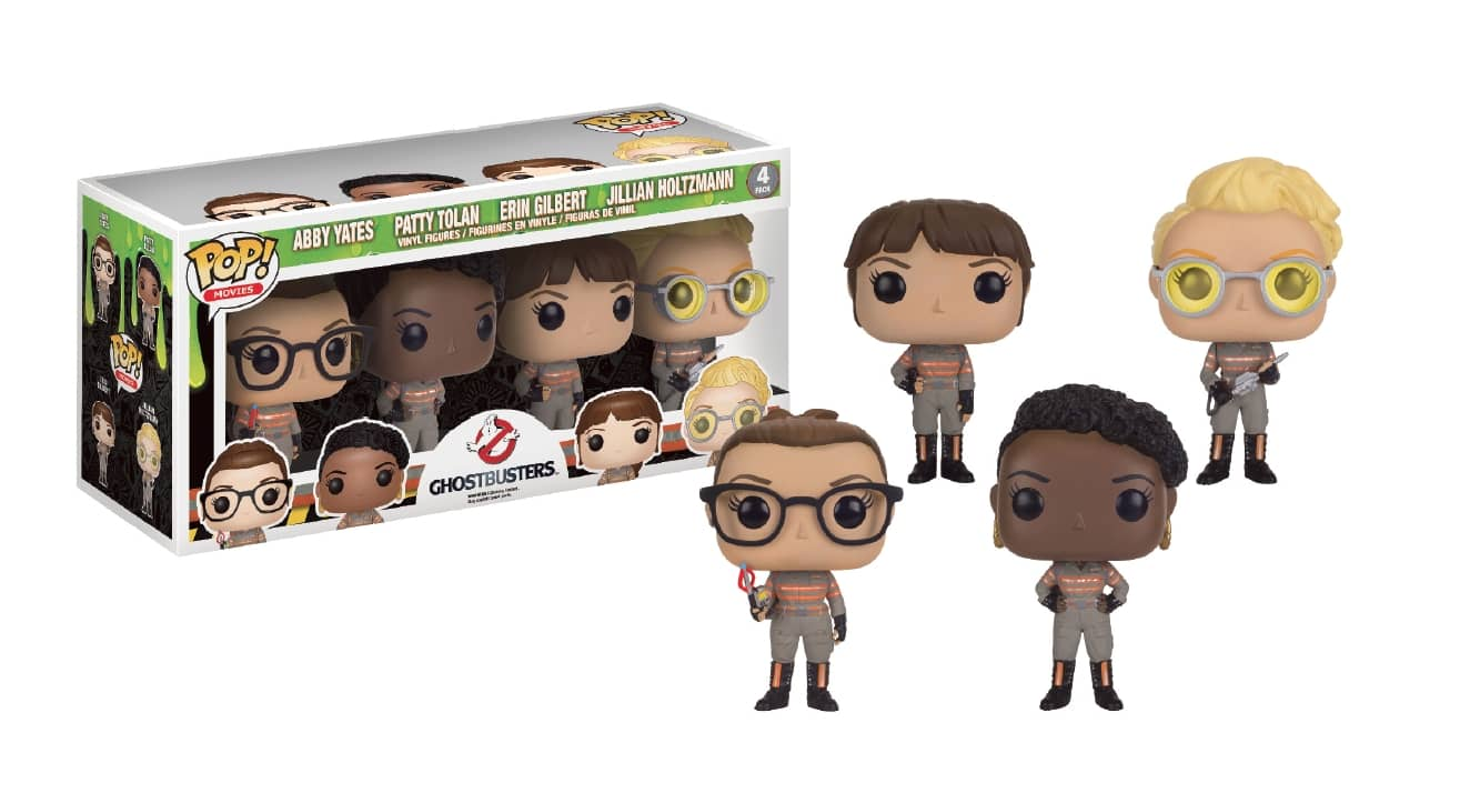 SET REGALO 4 FIGURAS 10 CM VINYL POP MOVIES GHOSTBUSTERS