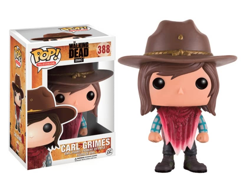 CARL GRIMES FIGURA 10 CM VINYL POP TELEVISION THE WALKING DEAD