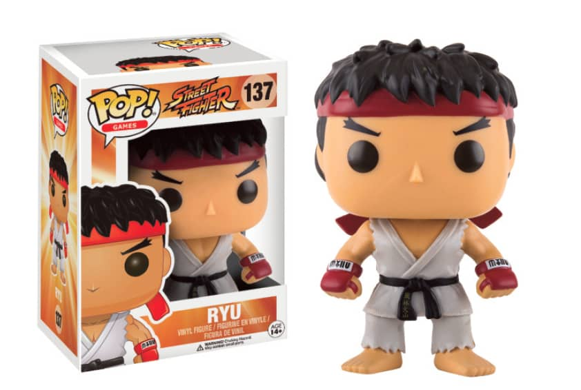 RYU FIGURA 10 CM VINYL POP GAMES STREET FIGHTER