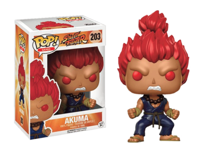 AKUMA FIGURA 10 CM VINYL POP GAMES STREET FIGHTER