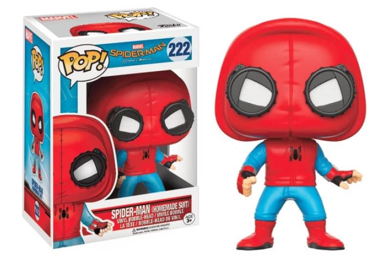 SPIDER-MAN TRAJE HECHO EN CASA FIGURA 10 CM VINYL POP MARVEL SPIDER-MAN HOMECOMING