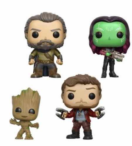 GROOT STAR-LORD EGO GAMORA 4 PACK FIG 10 CM VINYL POP GUARDIANS OF THE GALAXY VOL. 2