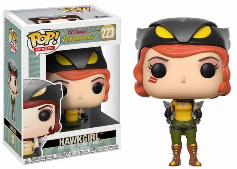 HAWKGIRL FIG.10 CM VINYL POP HEROES DC BOMBSHELLS WAVE 2