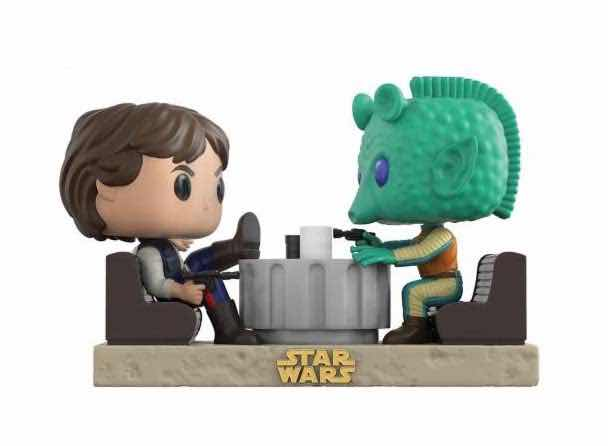 HAN SOLO & GREEDO CANTINA FACEOFF 2 PACK FIG 10 CM VINYL POP MOVIE MOMENTS STAR WARS