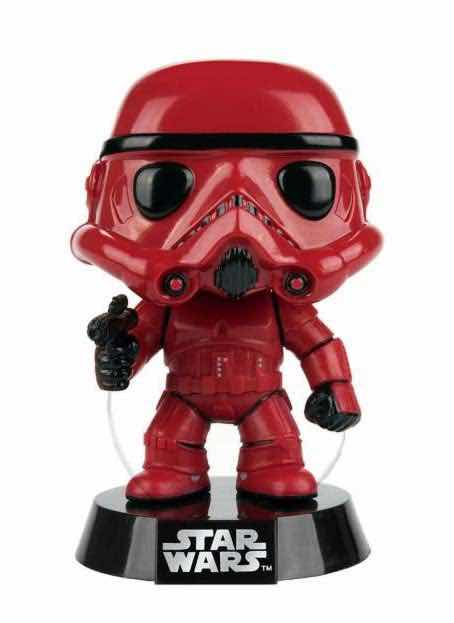 STORMTROOPER ROJO FIG.10 CM VINYL POP STAR WARS