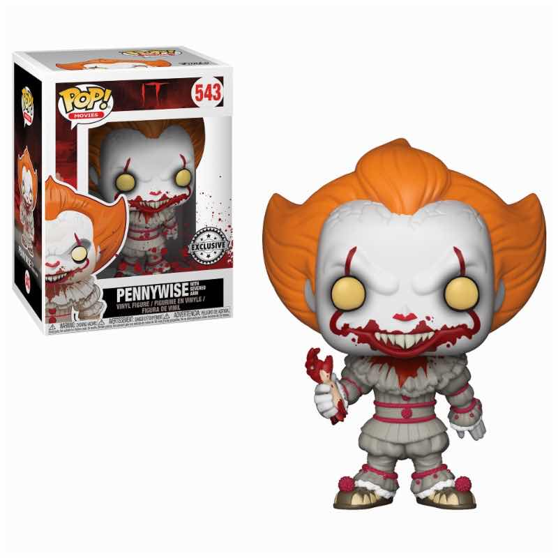 PENNYWISE CON BRAZO CORTADO FIG. 10 CM VINYL POP IT 2017
