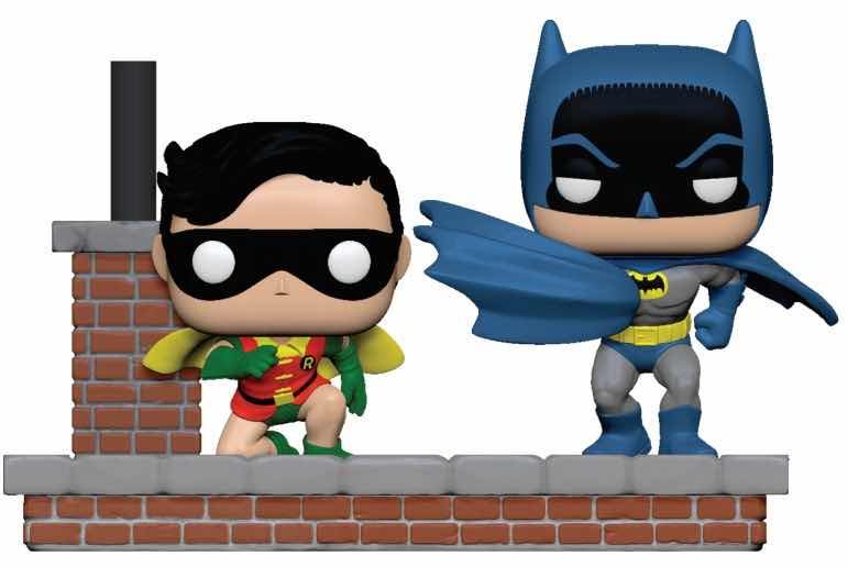 BATMAN Y ROBIN 1964 PACK 2 FIG 10 CM VINYL POP MOMENT BATMAN 80TH DC UNIVERSE
