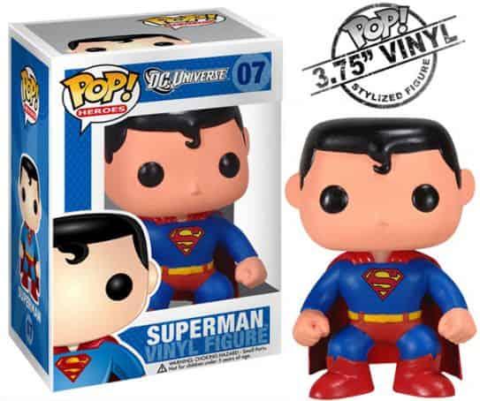 SUPERMAN CABEZON 10 CM POP HEROES DC