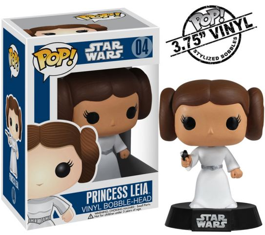 PRINCESA LEIA CABEZON 10 CM BOBBLE POP STAR WARS