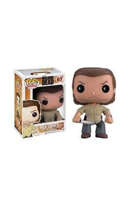 RICK GRIMES PRISON YARD FIG 10 CM VINYL POP THE WALKING DEAD