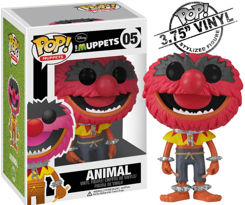 ANIMAL FIG.10 CM VINYL POP  MUPPETS MOST WANTED