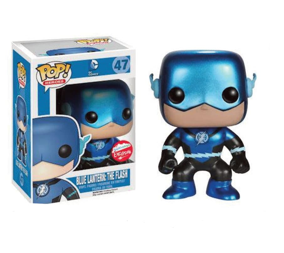 BLUE LANTERN METALLIC FLASH FIGURA 10 CM POP HEROES UNIVERSO DC