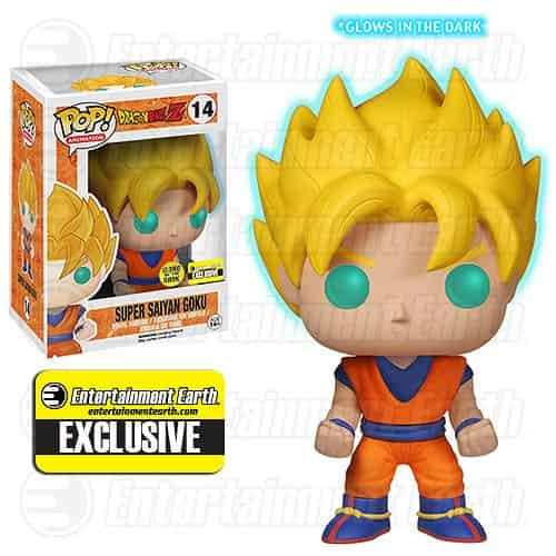 SUPER SAIYAN GOKU GLOW IN THE DARK FIGURA 10 CM CM DRAGON BALL Z VINYL POP