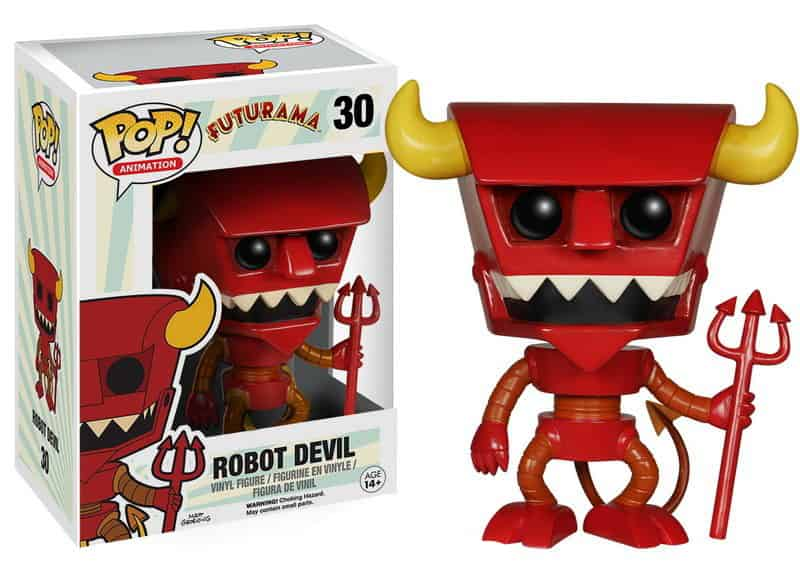 ROBOT DEVIL FIGURA 10 CM VINYL POP FUTURAMA