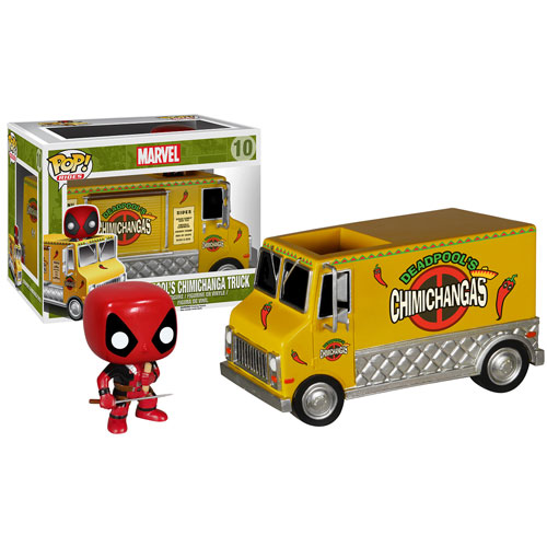 DEADPOOL CHIMICHANGA RIDE FURGONETA + CABEZON 10 CM POP HEROES MARVEL