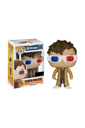 10 TH DOCTOR GAFAS 3-D FIGURA 10 CM VINYL POP DOCTOR WHO