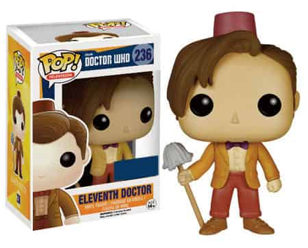 11 TH DOCTOR CON FEZ Y FREGONA FIGURA 10 CM VINYL POP DOCTOR WHO