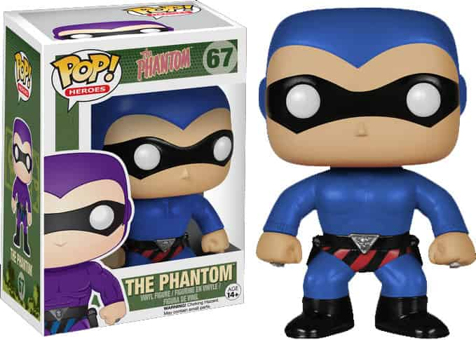 THE PHANTOM TRAJE AZUL FIG 10 CM VINYL POP HEROES