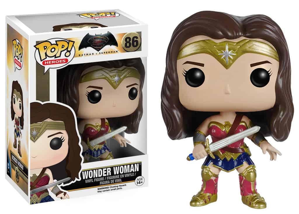 WONDER WOMAN FIG.10 CM VINYL POP HEROES BATMAN VS SUPERMAN UNIVERSO DC