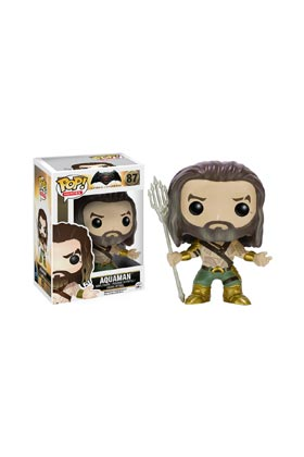 AQUAMAN FIG.10 CM VINYL POP HEROES BATMAN VS SUPERMAN UNIVERSO DC