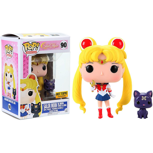 SAILOR MOON & LUNA CON CENTRO LUNAR FIGURA 10 CM VINYL POP ANIMATION SAILOR MOON