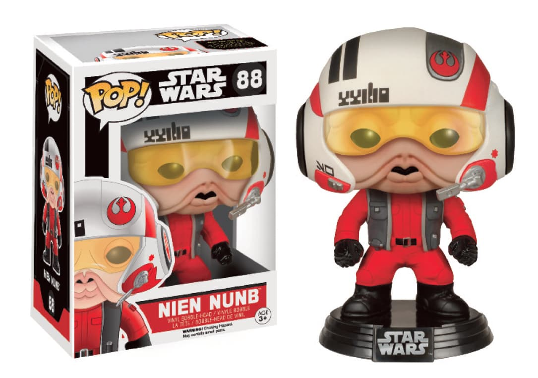 NIEN NUNB CON CASCO EDICION LTD FIGURA 10 CM VINYL POP STAR WARS THE FORCE AWAKENS