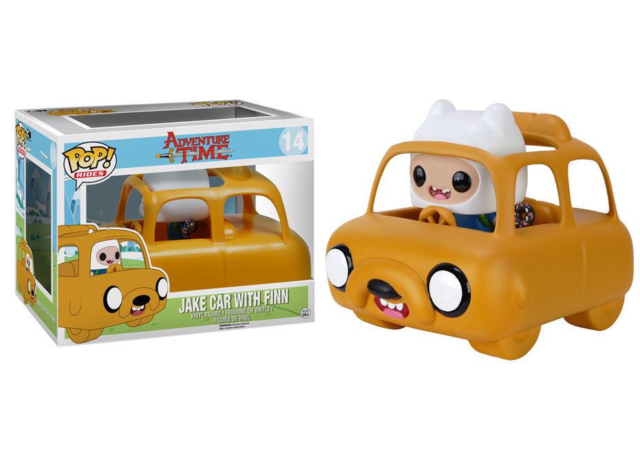 FINN Y EL COCHE JAKE POP RIDES 12 CM. VINYL POP ADVENTURE TIME