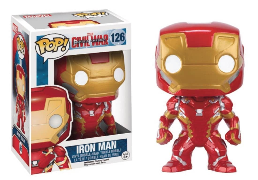 IRON MAN FIGURA 10 CM VINYL POP MARVEL CIVIL WAR