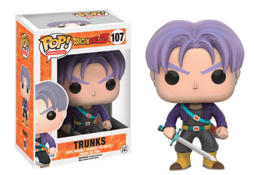 TRUNKS FIG 10 CM VINYL POP DRAGONBALL Z