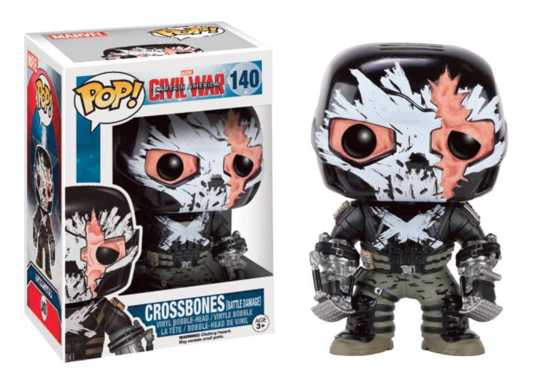 CROSSBONES HERIDAS DE BATALLA LTD FIGURA 10 CM VINYL POP MARVEL CIVIL WAR