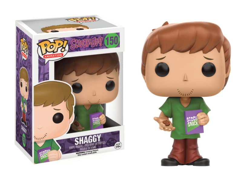 SHAGGY FIGURA 10 CM VINYL POP ANIMATION SCOOBY-DOO
