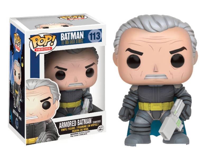 BATMAN DESENMASC. BLINDADO FIG.10 CM VINYL POP HEROES THE DARK KNIGHT RETURNS UNIVERSO DC