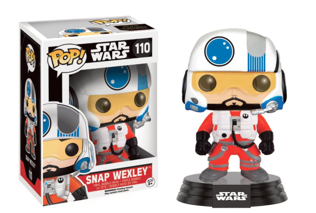 SNAP WEXLEY FIGURA 10 CM VINYL POP STAR WARS THE FORCE AWAKENS