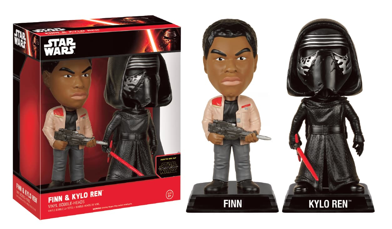 FINN Y KYLO REN PACK 2 FIGURAS 15 CM WACKY WOBBLER STAR WARS THE FORCE AWAKENS