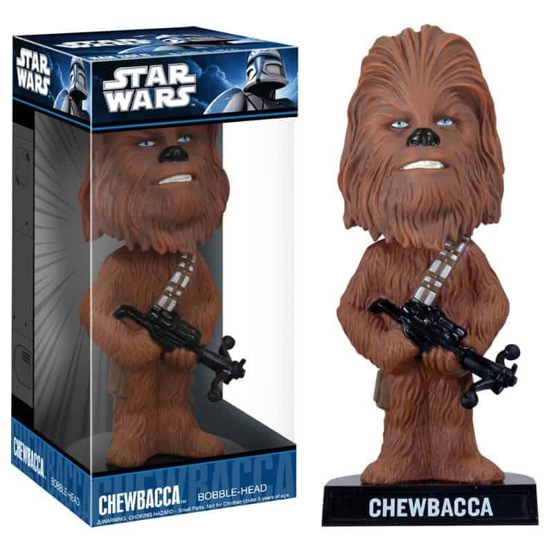 CHEWBACCA CABEZON 18 CM WACKY WOBBLER STAR WARS